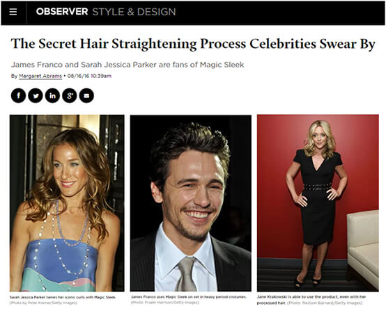 Celebrity Secret - Magic Sleek Hair Straightening
