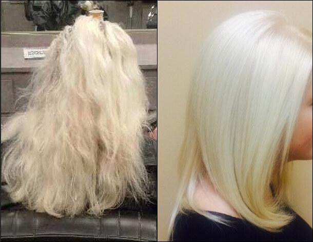 Magic Sleek Australia Hair Straightening Before & After