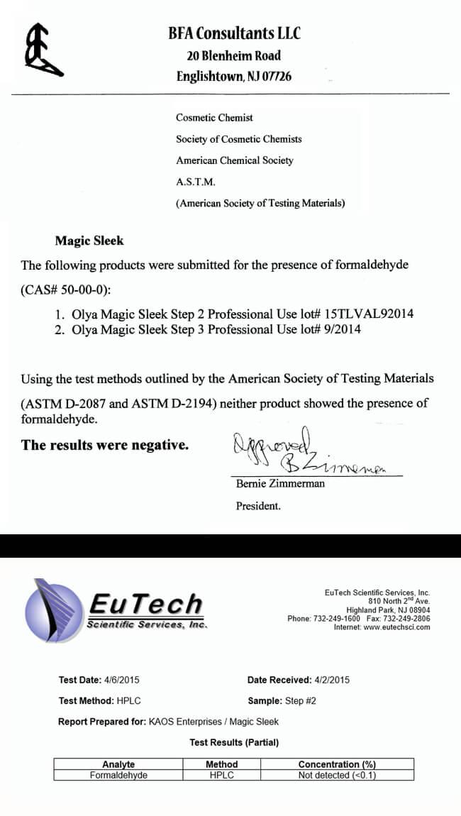 Magic Sleek - Certified Formaldehyde Free